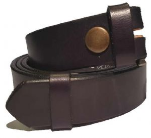 25mm Black Handmade English Bridle Sedgwick Leather Belt With Buckle - Made in England by Bucklebox